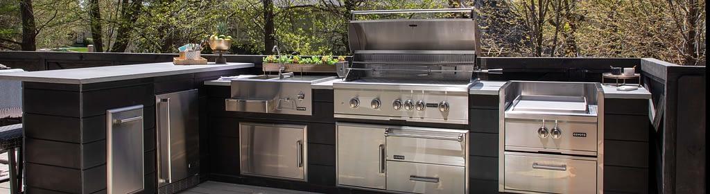 Custom RTA Outdoor Kitchen Plank Gray - Cost Lower than Traditional Custom