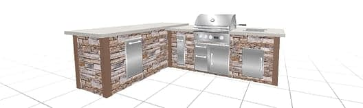 final render from outdoor kitchen design software