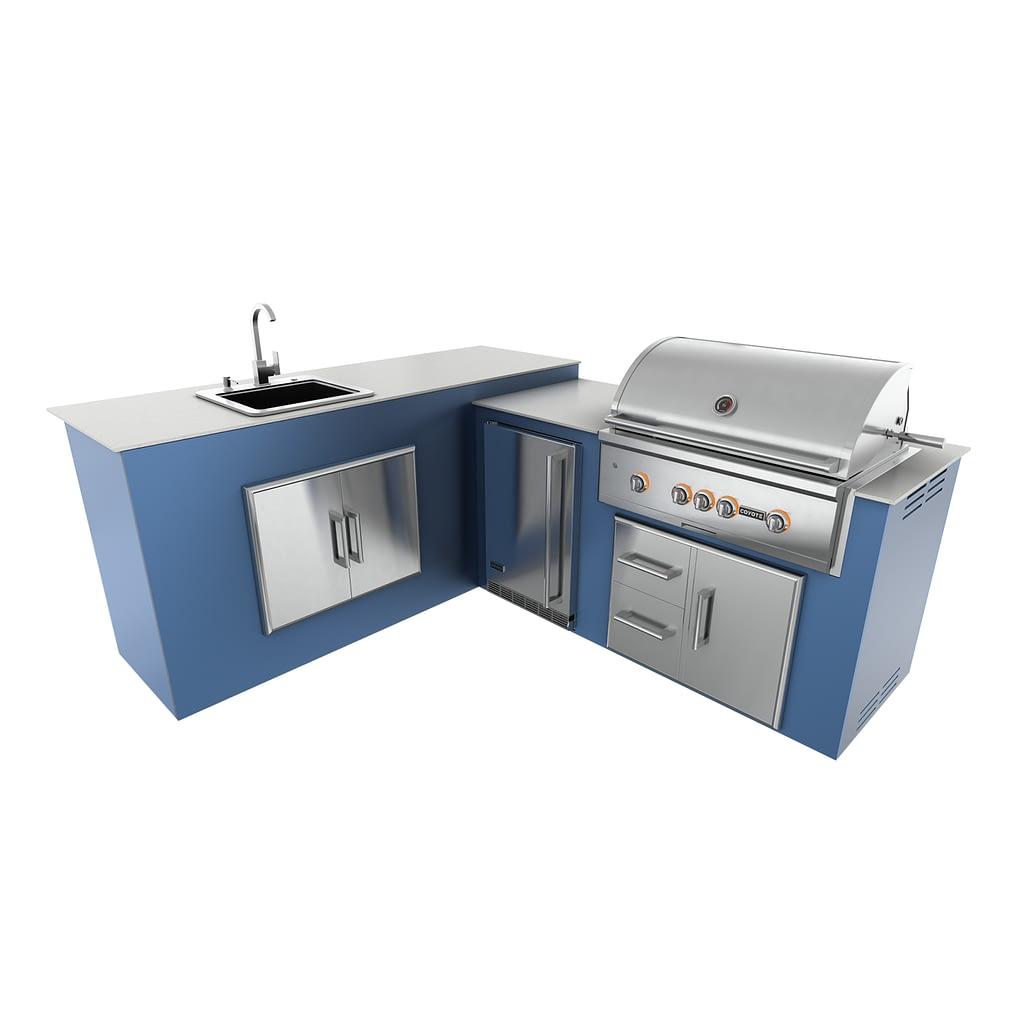 MOKS modular outdoor kitchen kit with appliances