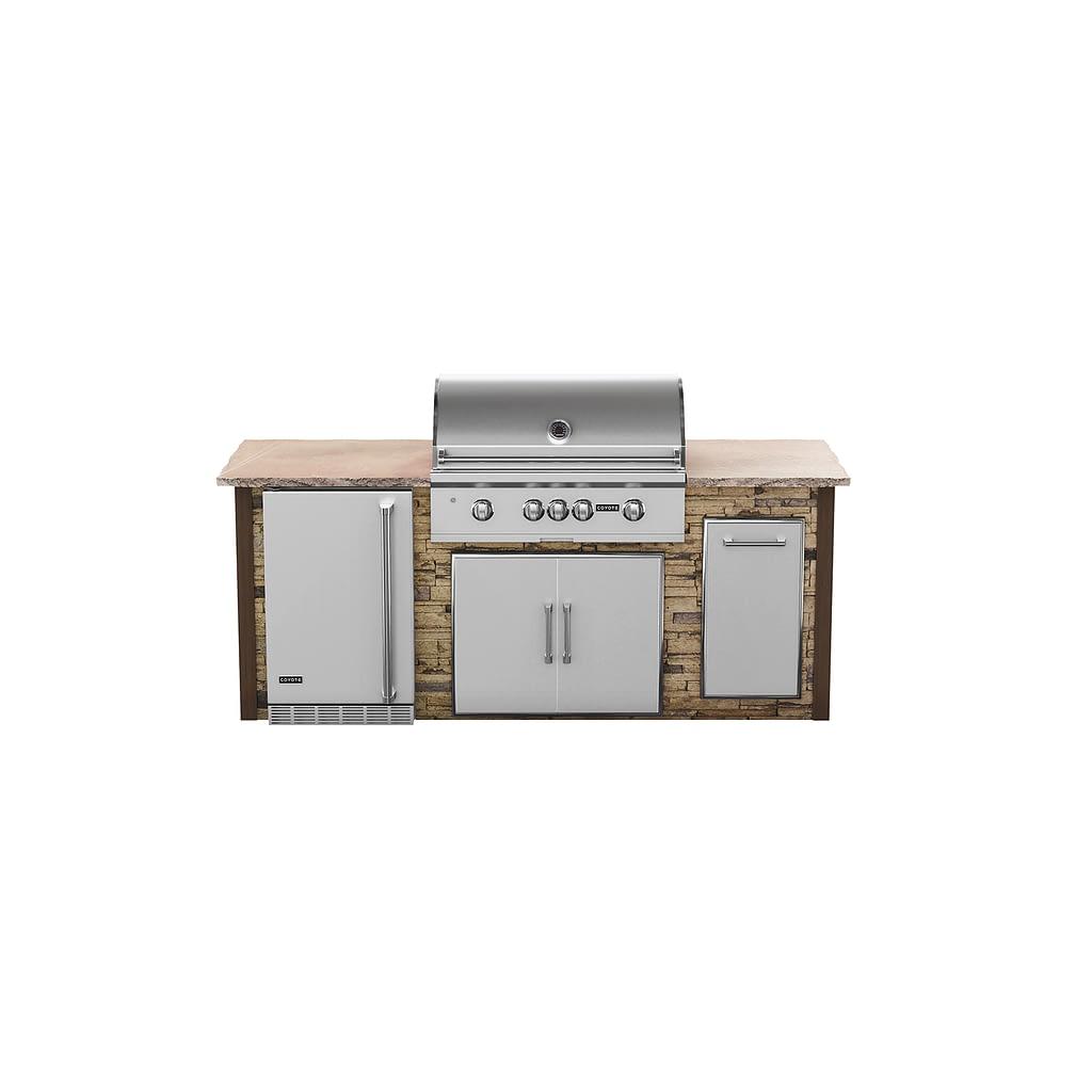 7 foot pre-design outdoor kitchen kit