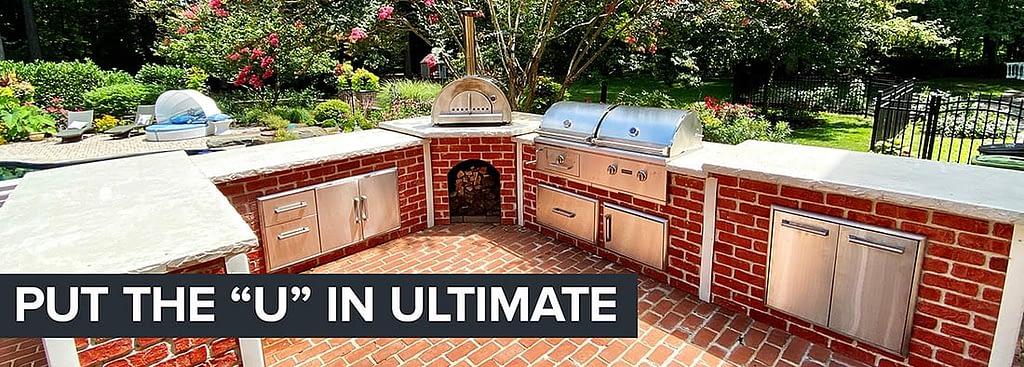 u shaped outdoor kitchen designs