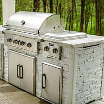 rta outdoor kitchen with coyote appliances