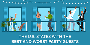 Title image for a survey on American party guest behavior