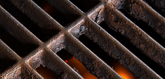 rusted outdoor kitchen grates