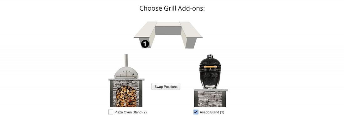 rta island add ons for kitchen design