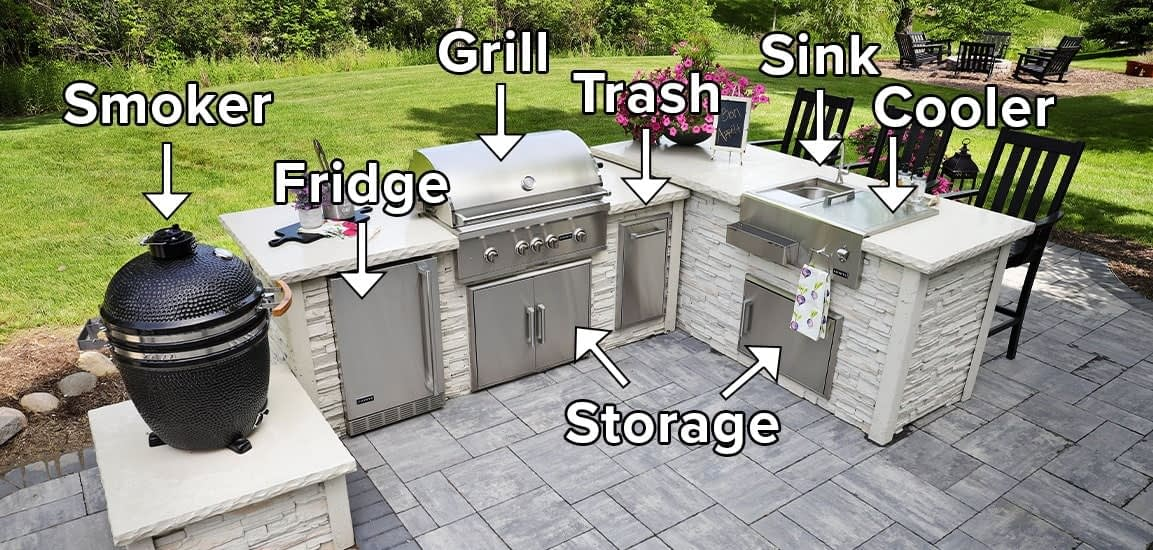 Farahs L Shaped Outdoor Kitchen with All the Functionality