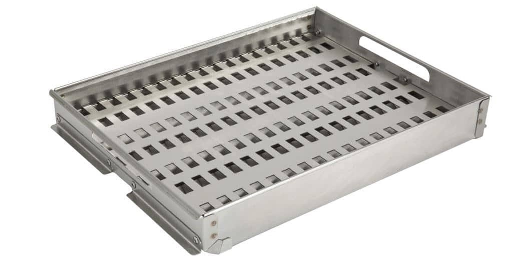 charcoal tray for gas built in grill (2)