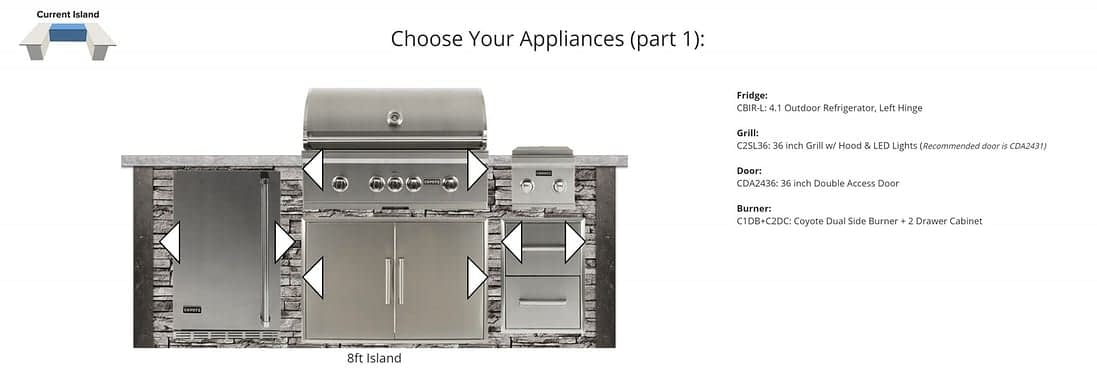 choose appliances for built in bbq designs