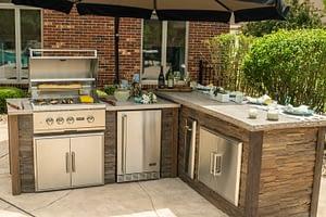 l shaped rta outdoor kitchen