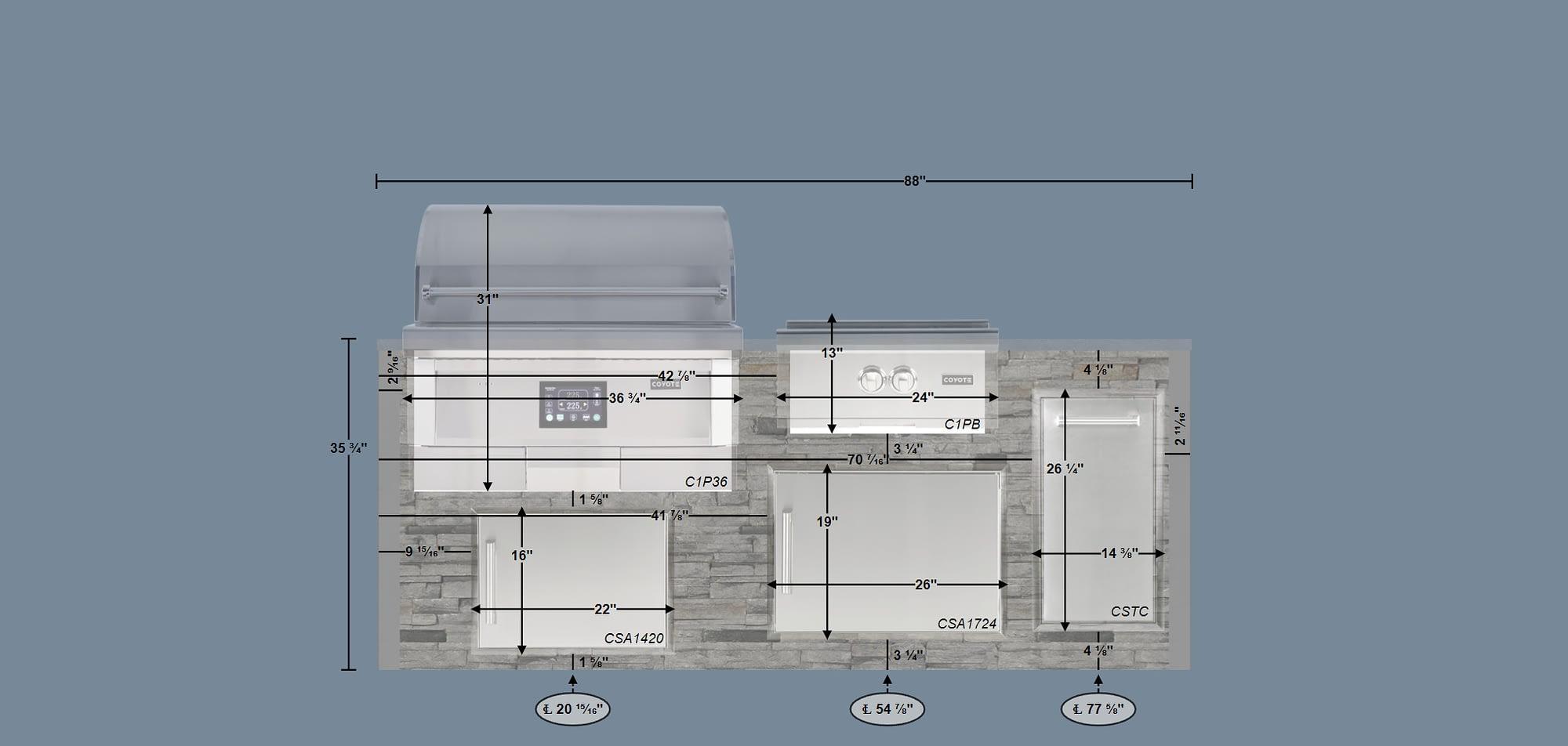 blueprint for custom rta outdoor kitchen
