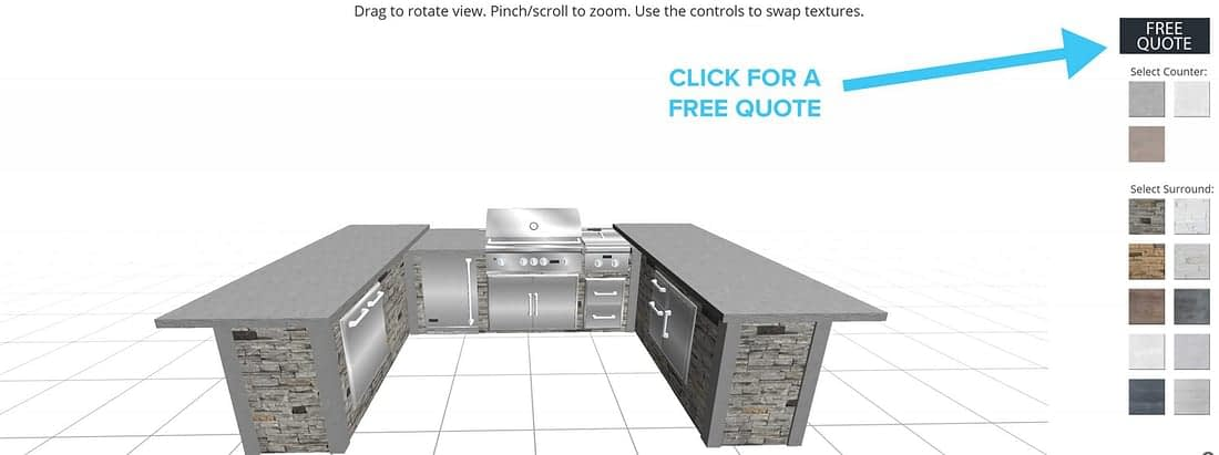 get a quote from free outdoor kitchen design software