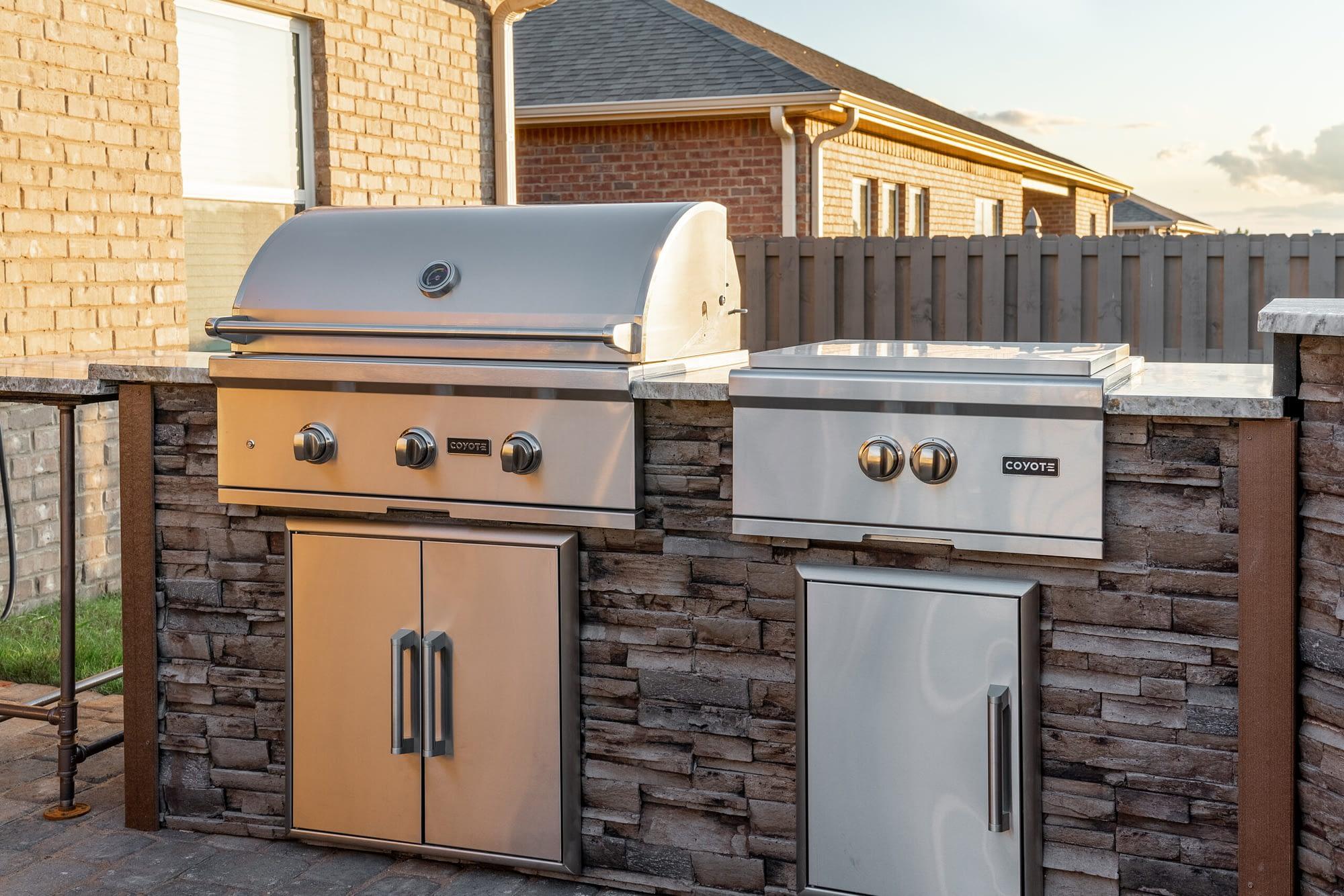premium built in grill