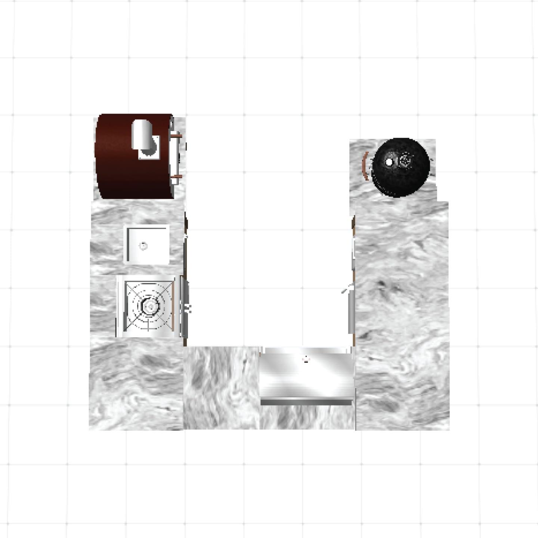 u-shape island layout for custom outdoor kitchen