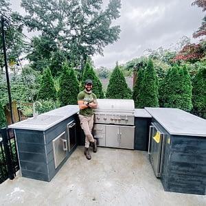 brian mazza's u shaped outdoor kitchen