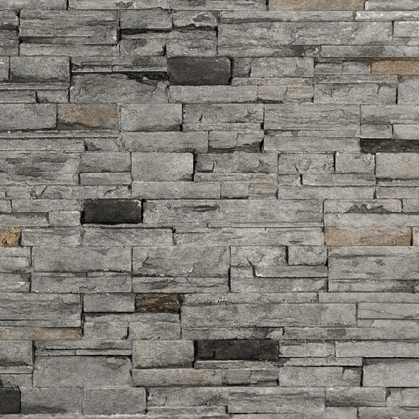 Stacked Stone - Gray Finish