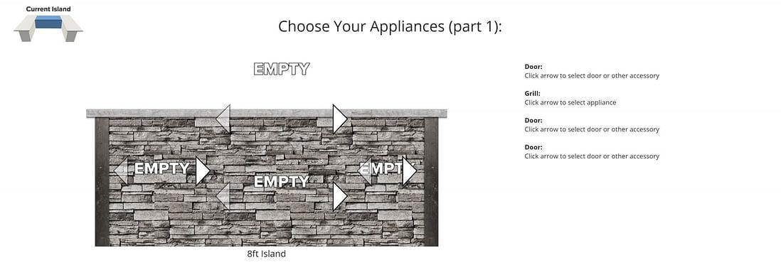 choosing appliances in free outdoor kitchen design software online