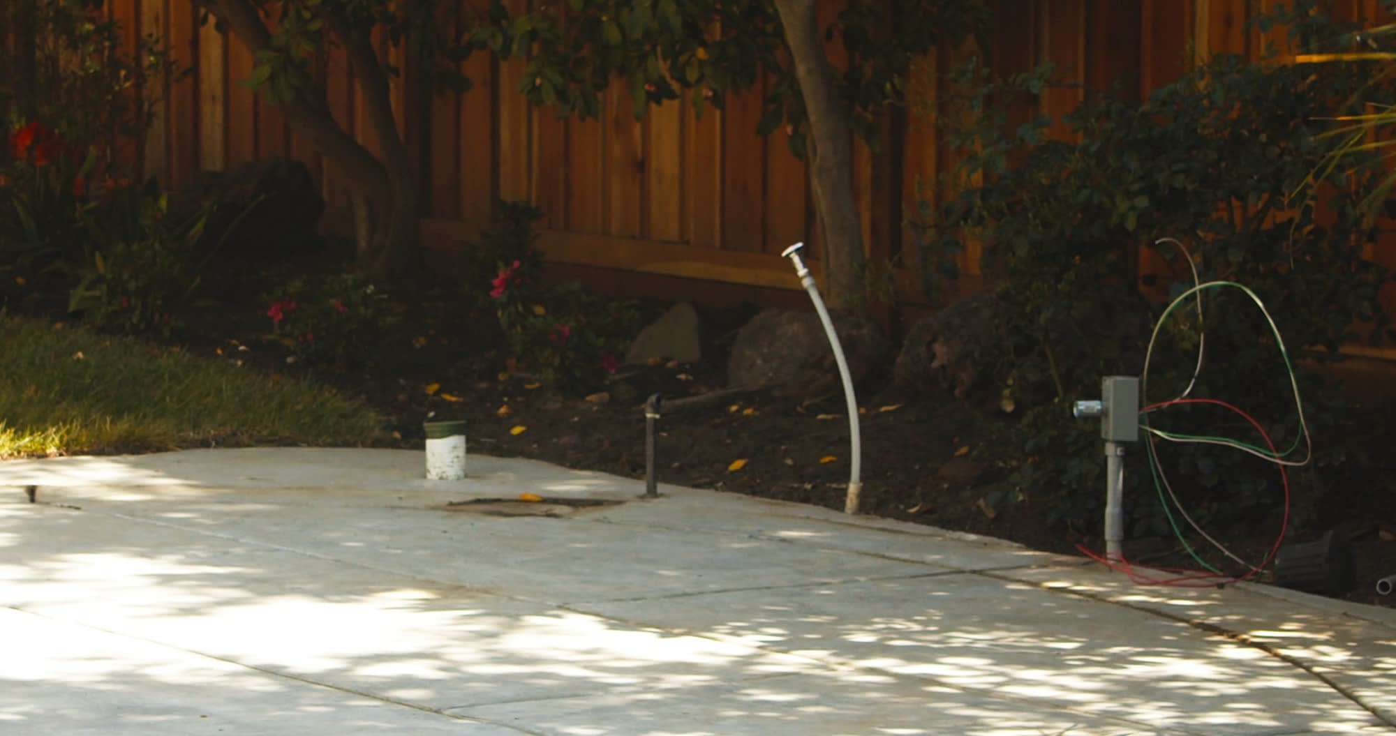 hidden utility line costs for outdoor kitchen