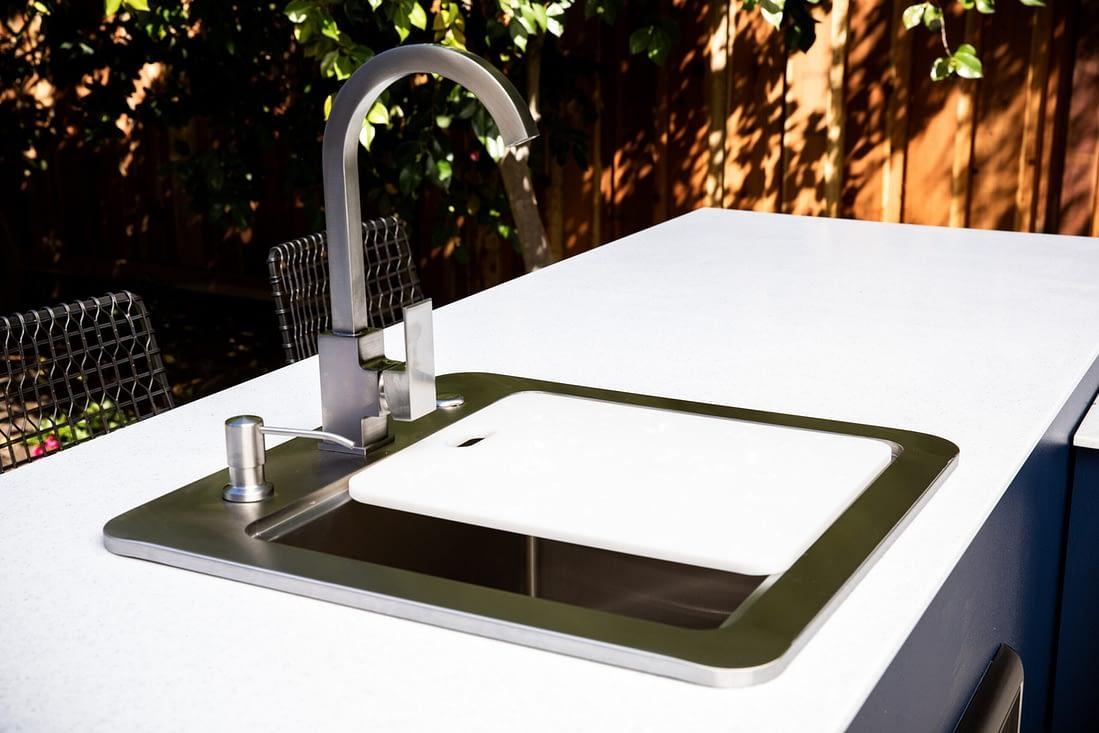 outdoor kitchen sink appliance