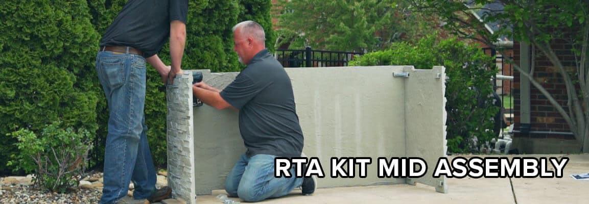 RTA Outdoor Kitchen Kit Mid Assembly