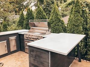 brian mazza's u shaped outdoor kitchen designs