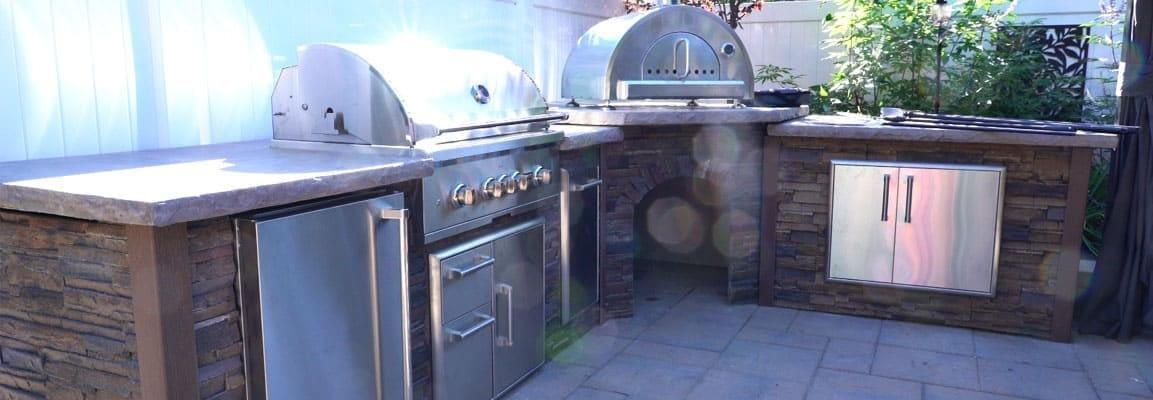 Skip Bedells L Shaped BBQ Outdoor Kitchen