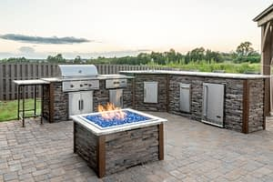 custom outdoor kitchen on patio by rta outdoor living