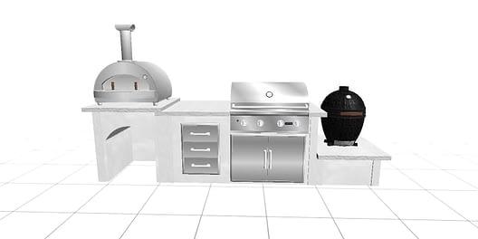 3d render from outdoor kitchen designer