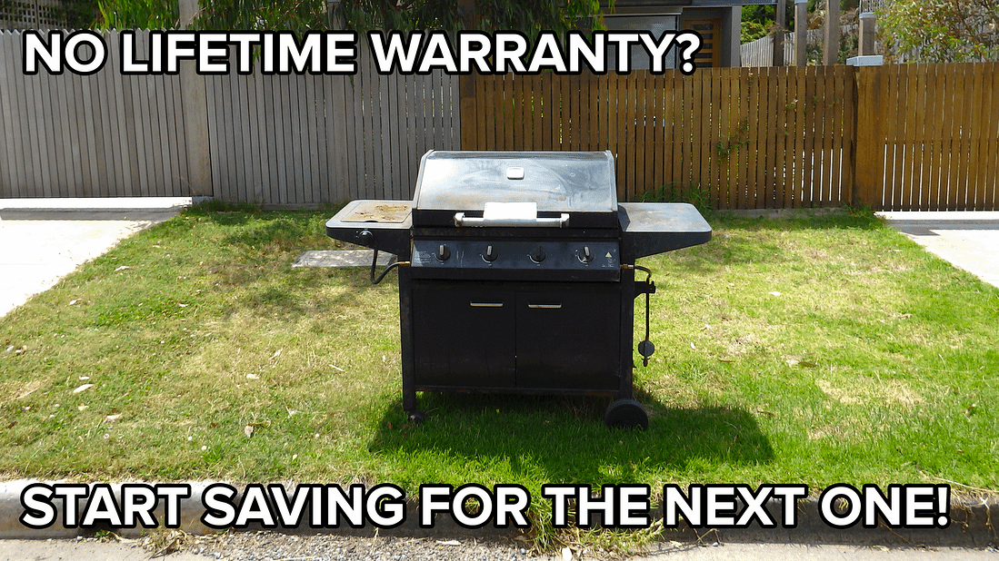 outdoor grill appliance in bad shape