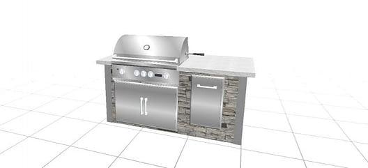finished backyard kitchen design