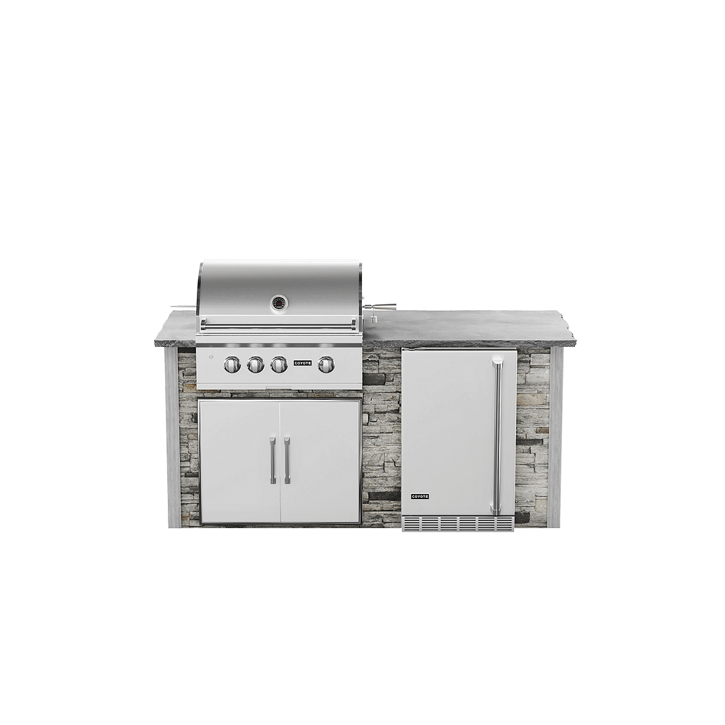 6 foot outdoor kitchen kit by rta outdoor living