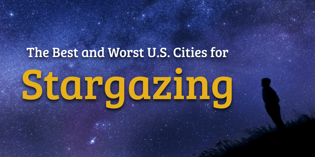 Title graphic for a study on the best U.S. cities for stargazing