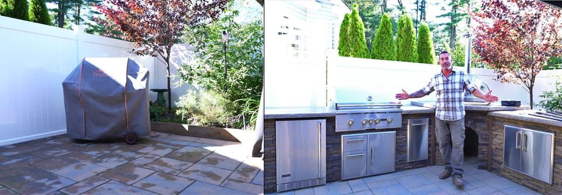 Skips Corner Outdoor Kitchen Kit After a Few Hours