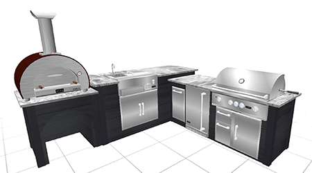 3d render of outdoor kitchen by rta outdoor living