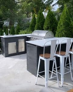 brian mazza's u shaped outdoor bar