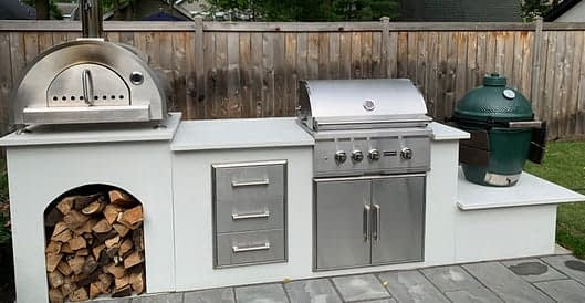 custom rta outdoor kitchen with appliances