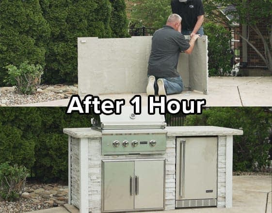 Outdoor Kitchen Kits from RTA after 1 Hour